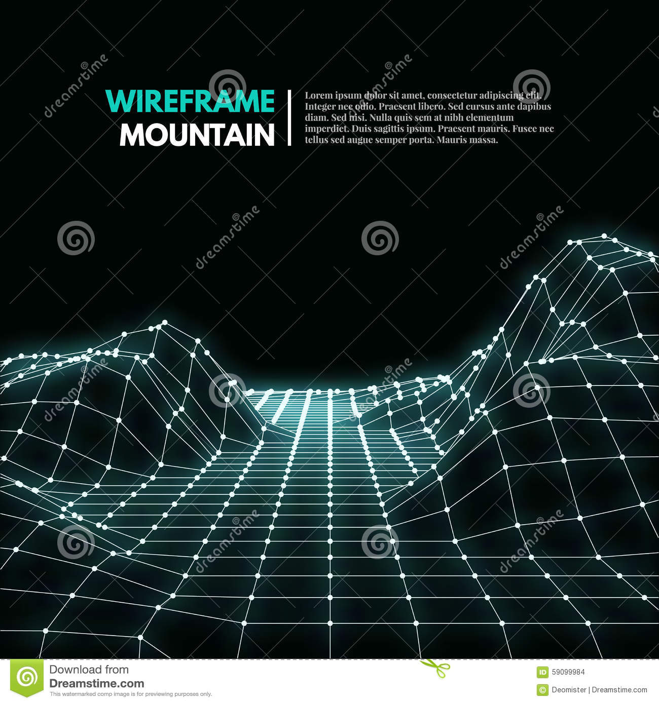 wireframe mountains wireframe mesh polygonal surface stock vector image 5293