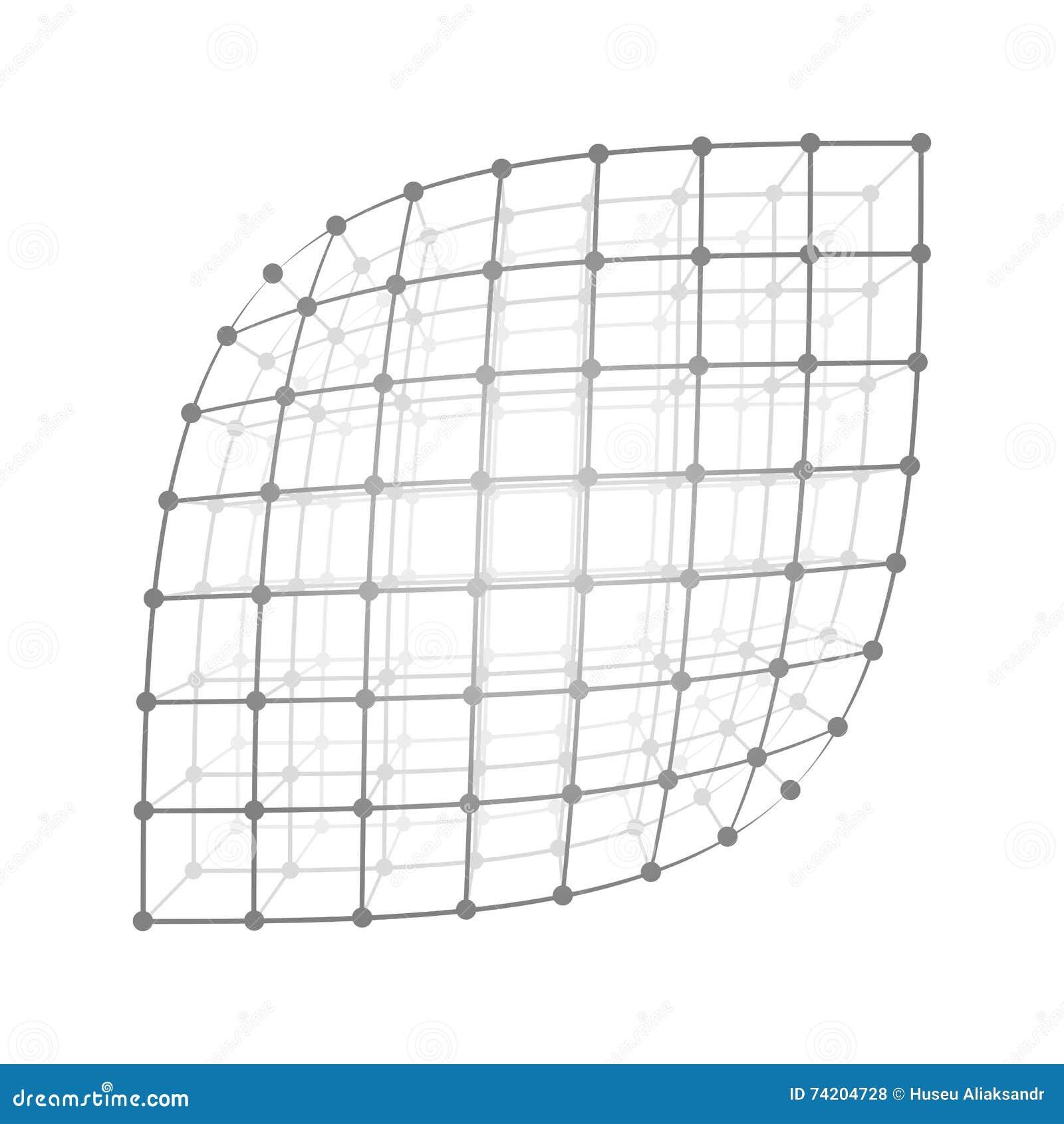 Wireframe mesh sheet