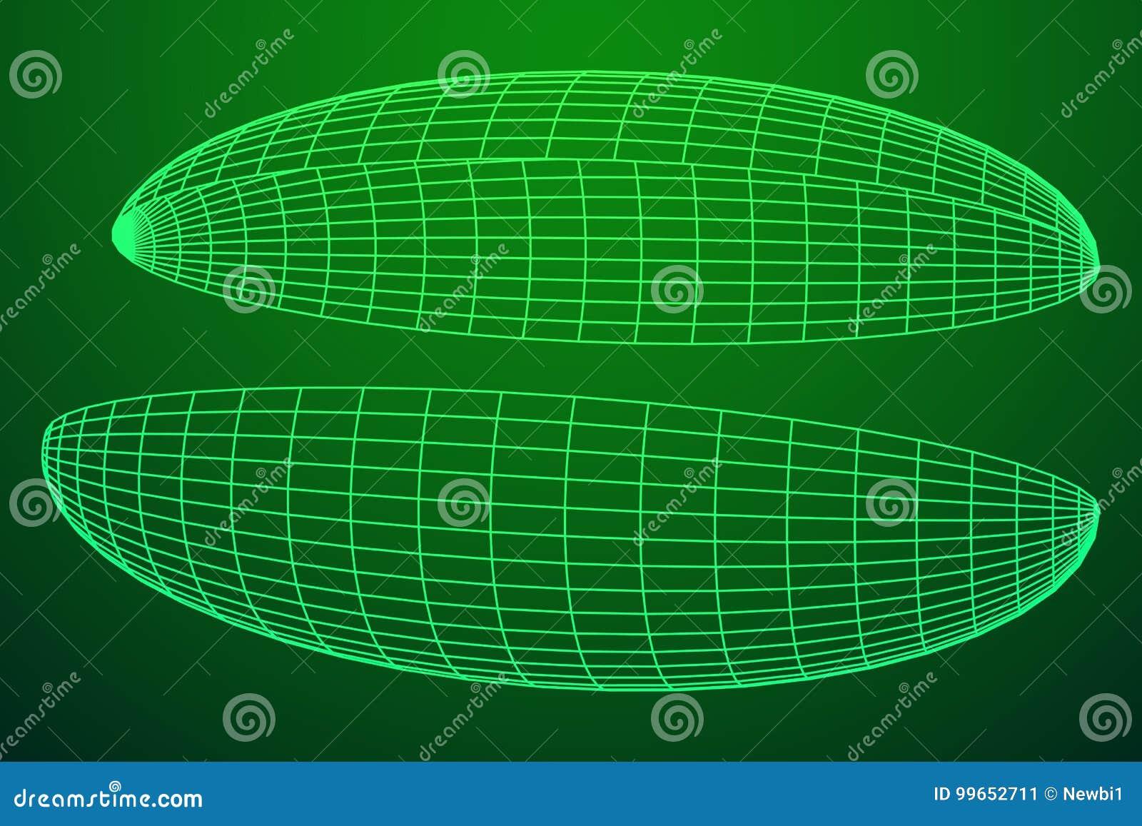 Wireframe siatki hemisfera