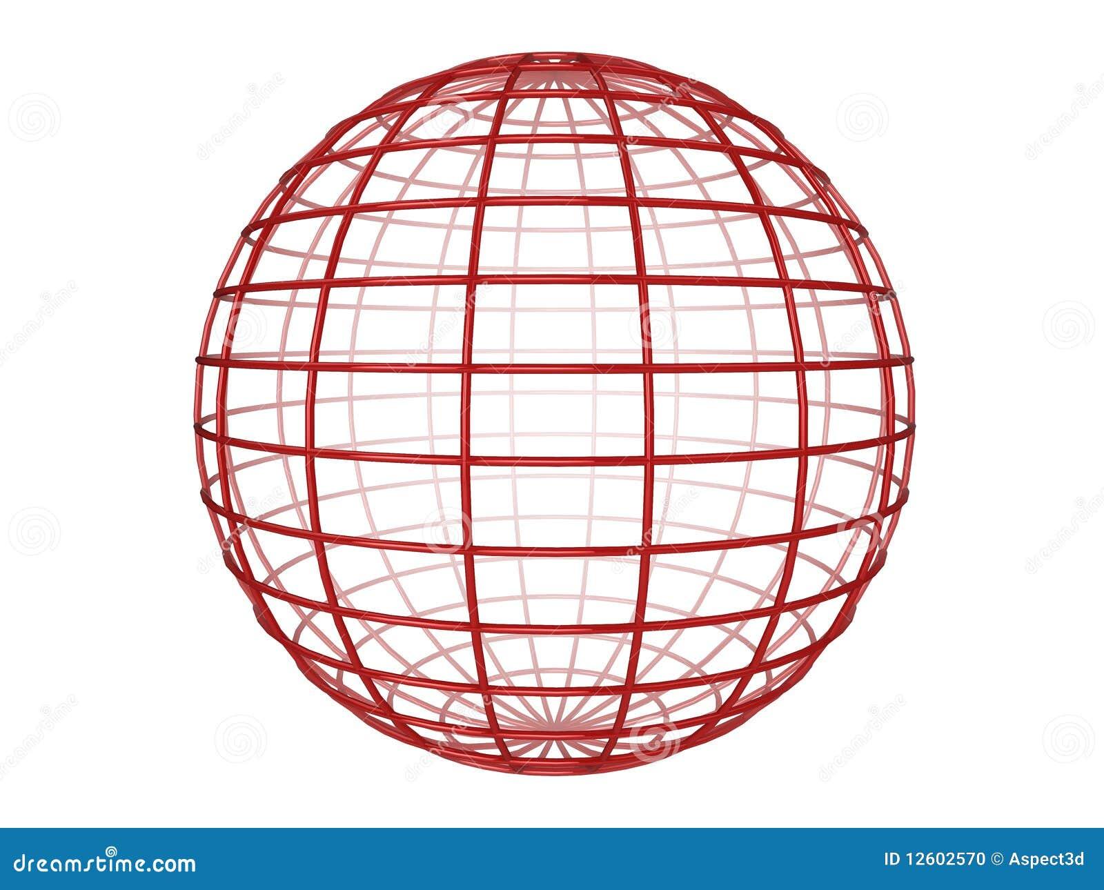 Wireframe Sphere Stock Photo