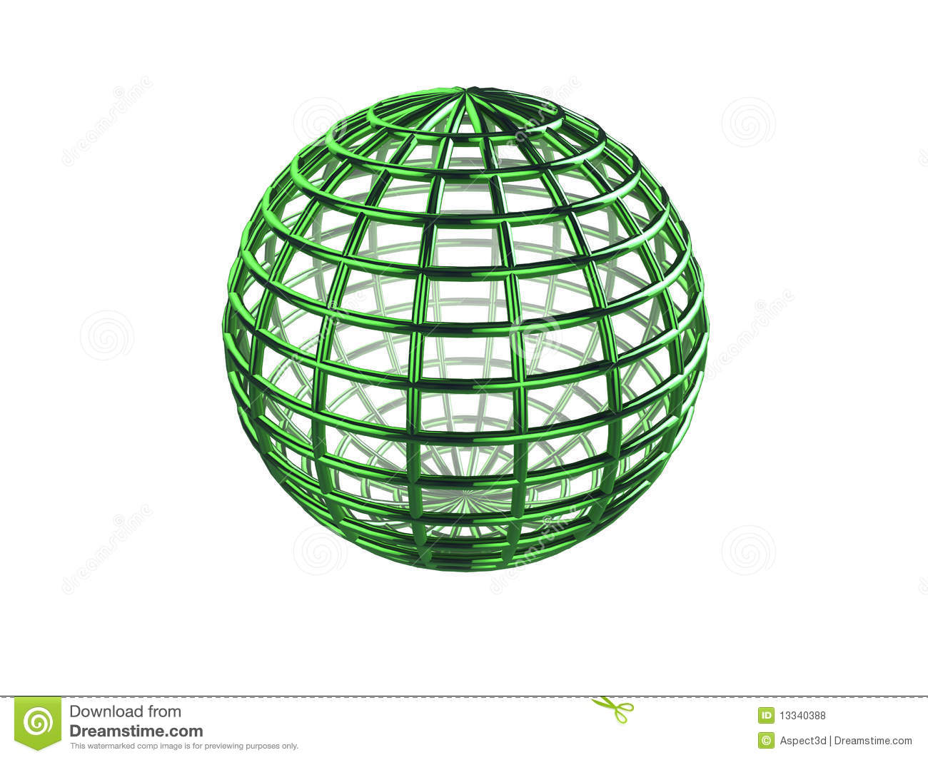 Wireframe Sphere Royalty Free Stock Photos
