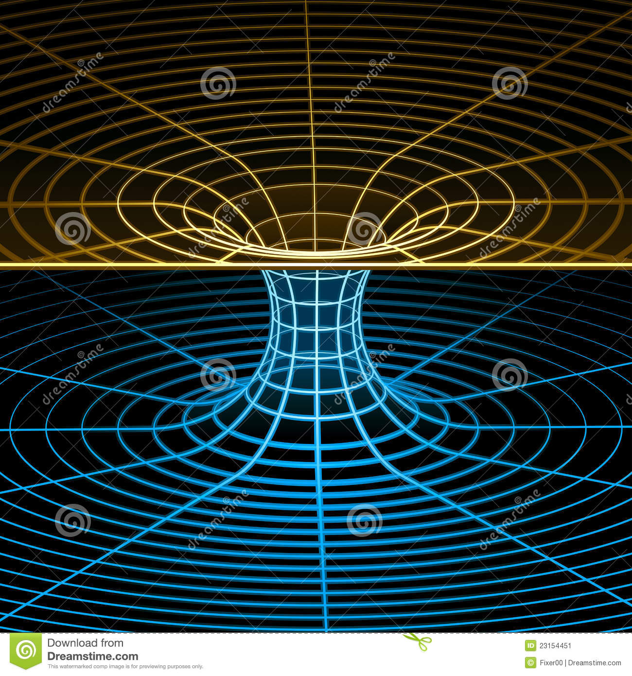 Wireframe symbol (wormhole)