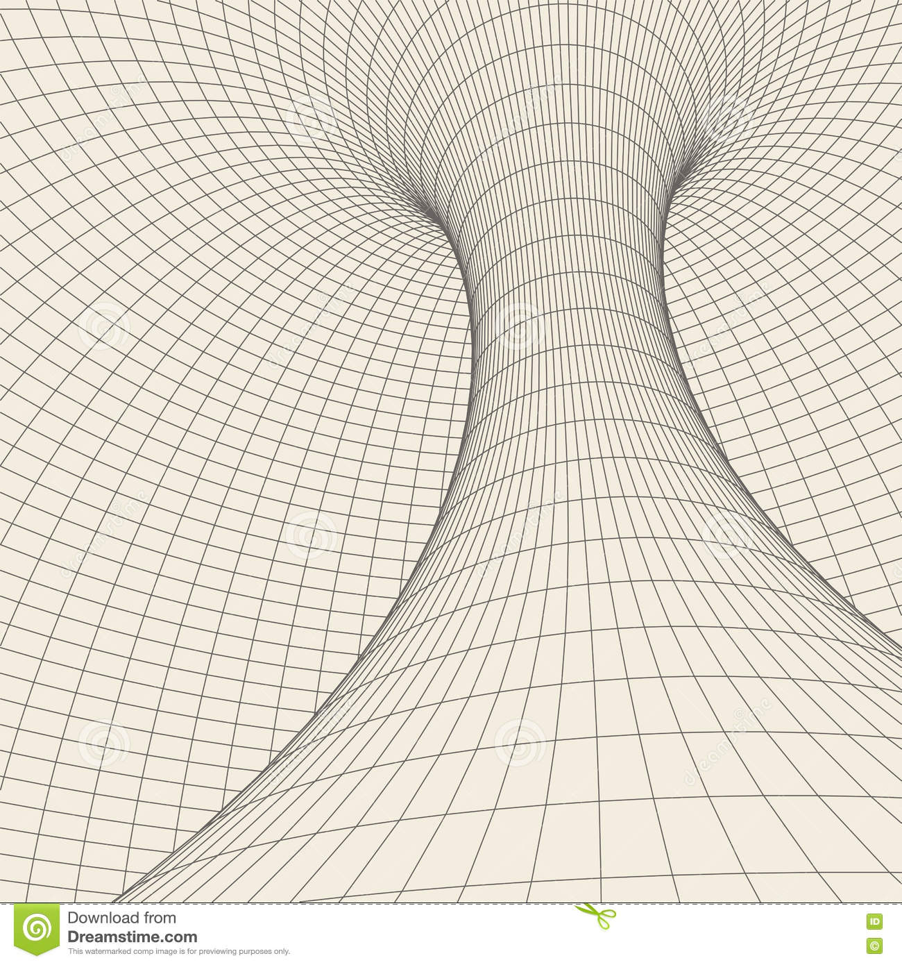 Wireframe torus with connected lines and dots . Mesh polygonal element. Vector Illustration EPS10.