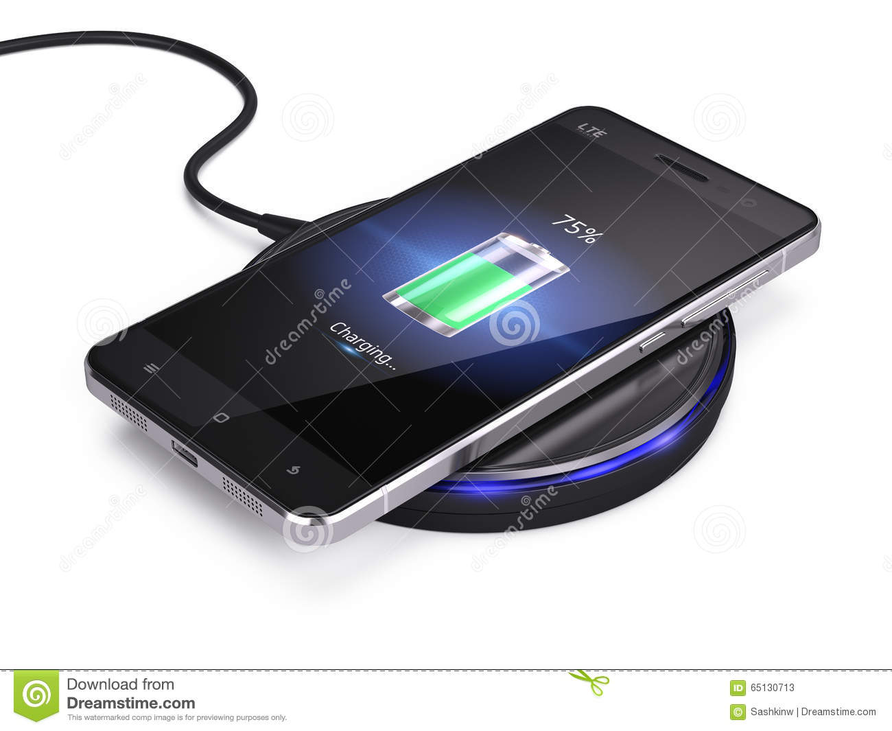 Wireless Charging Of Smartphone Royalty-Free Stock ...