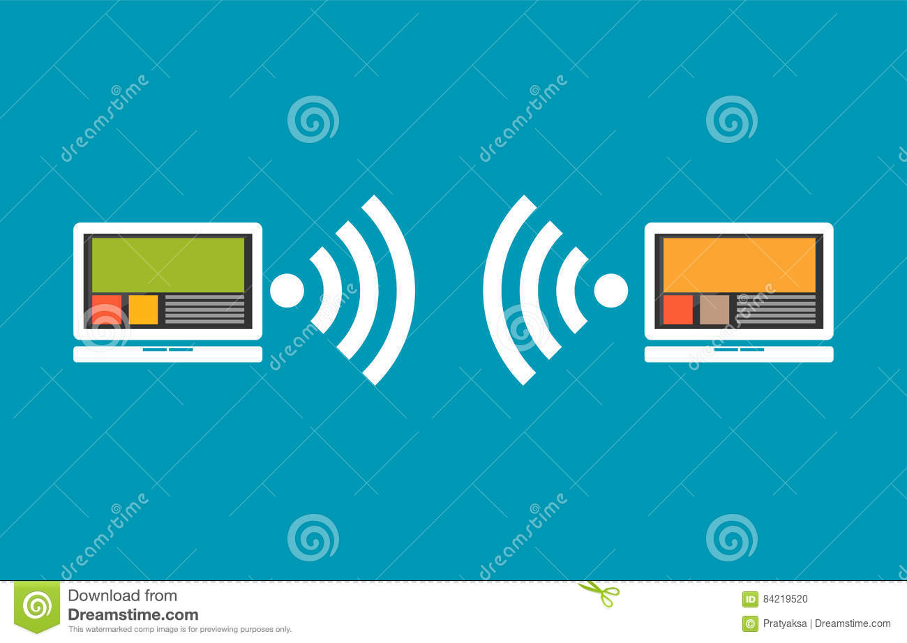 Wireless Communication Between Devices. Connectivity Concept Stock ...
