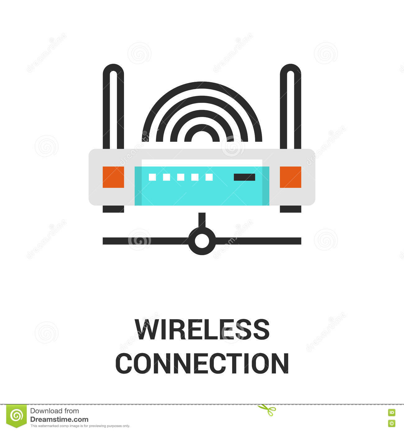 Wireless Connection Icon Stock Vector Illustration Of Communication