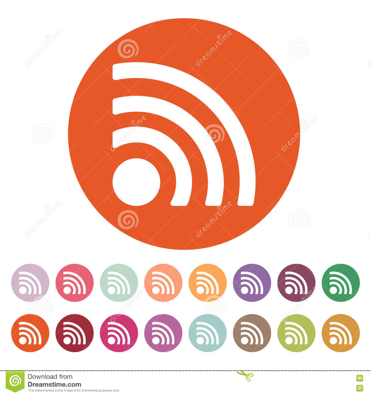The Wireless Icon. Wifi Symbol. Stock Vector - Illustration of ...