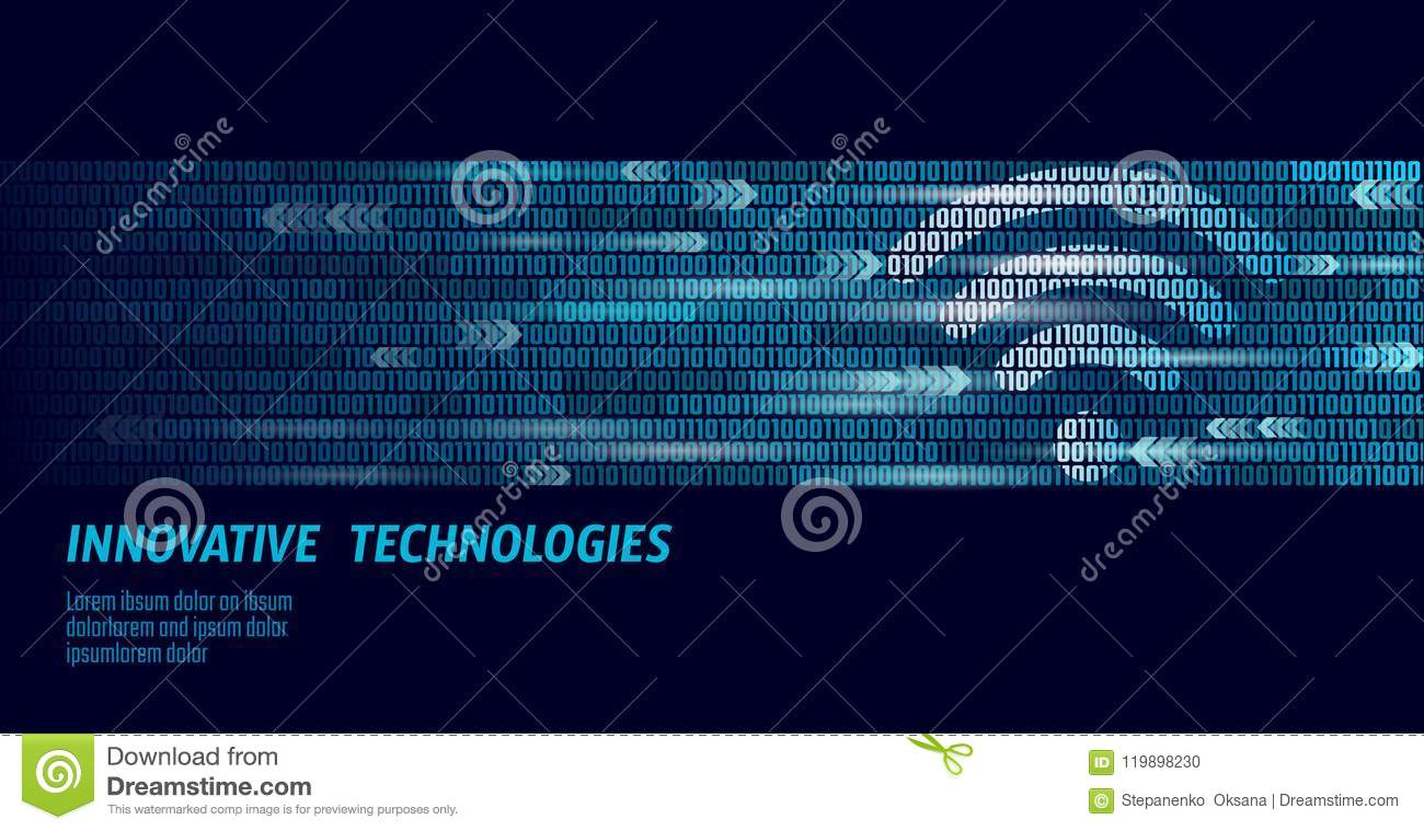 Wireless internet wifi connection. Big data binary code flow numbers. Global network high speed innovation connection