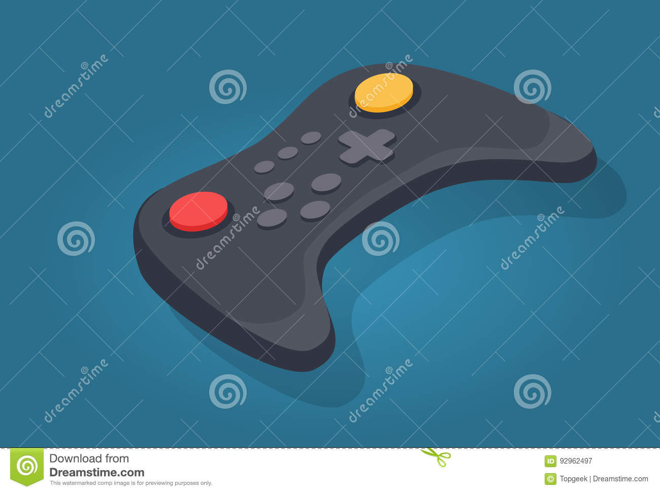 Wireless Joystick Or Video Game Controller Icon Stock Vector