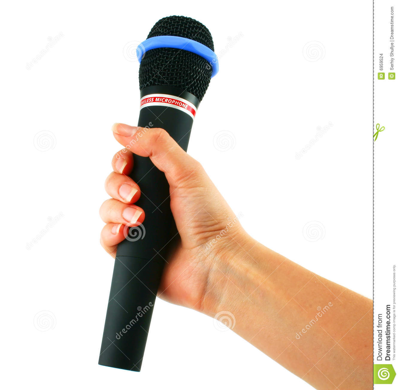 Microphone In Hand : Wireless microphone in hand stock images image