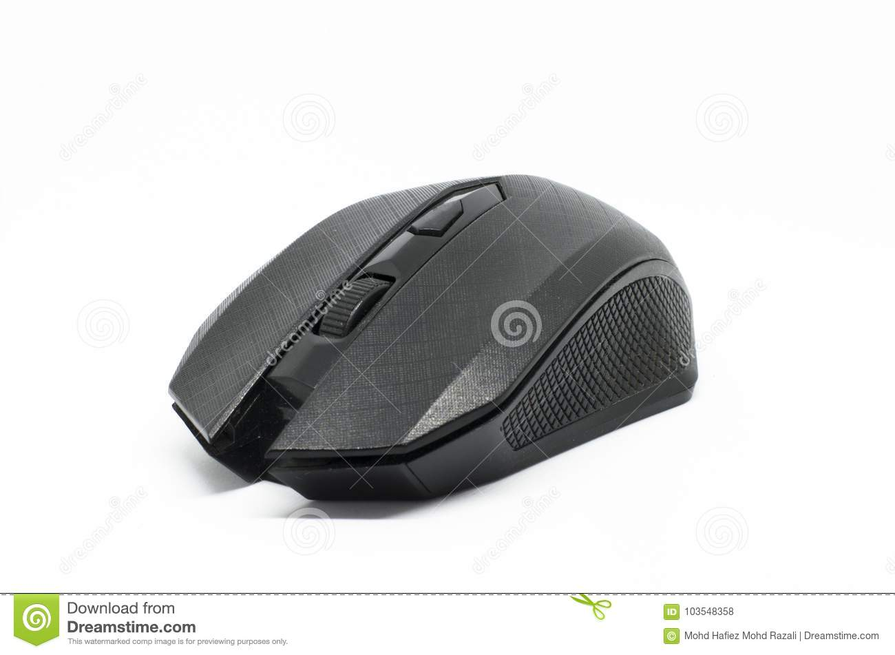 e9ddca3f077 Wireless Mouse Isolated On A White Background Stock Photo - Image of ...