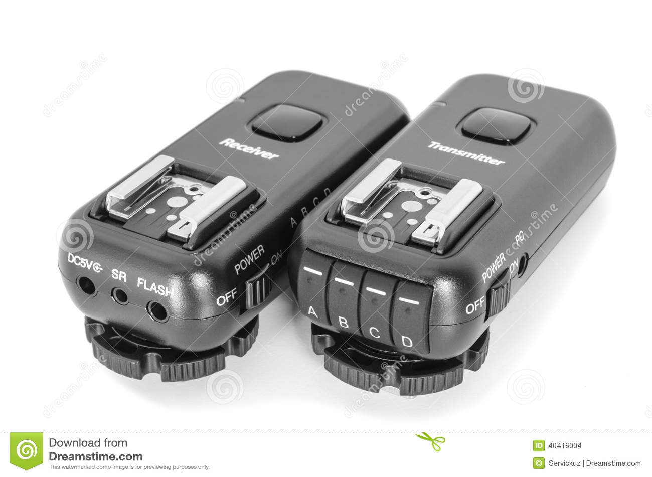 Wireless multichannel radio trigger set