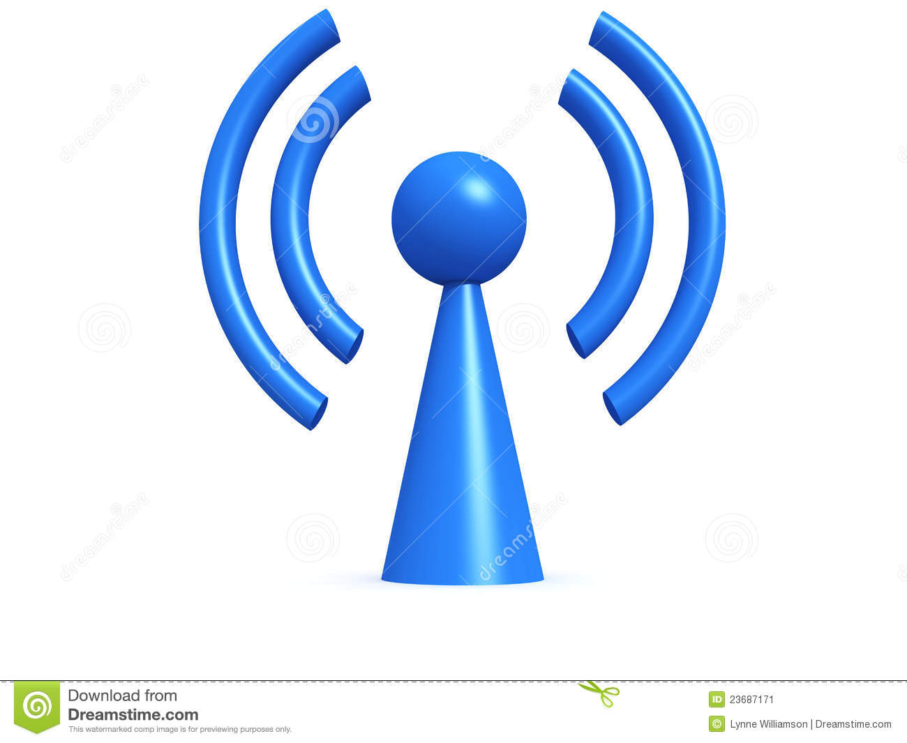 Wireless Symbol Stock Image - Image: 23687171