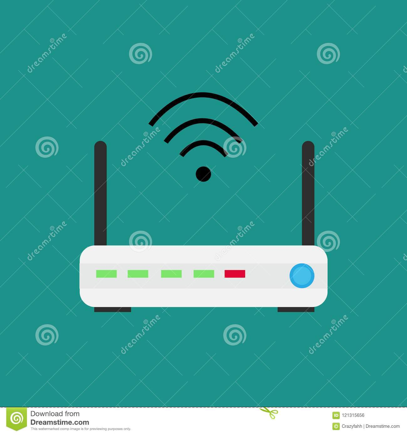 Wireless Technology Devices Isometric Stock Illustration