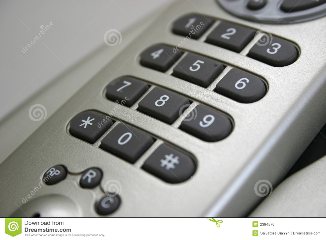 Wireless Telephone Number Pad Royalty Free Stock Image - Image: 2384576