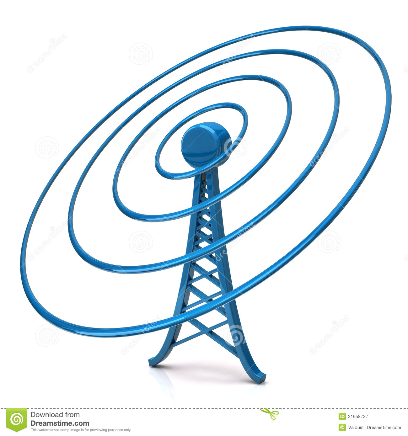 Wireless Tower Royalty Free Stock Photography - Image: 21658737