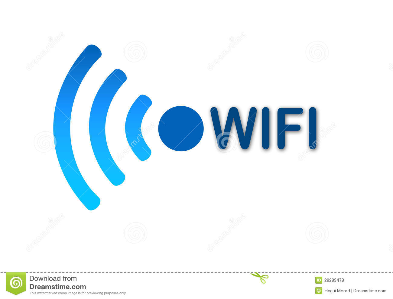 Wireless Wifi Network Blue Icon Royalty Free Stock Photos  Image