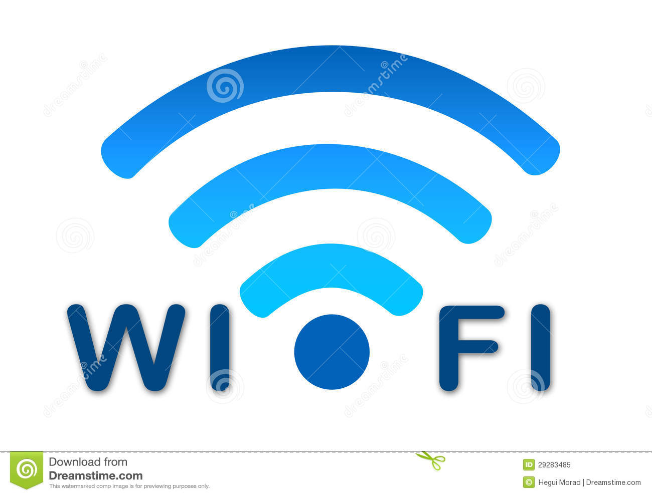 Wireless Wifi Network Blue Icon Royalty Free Stock Photo  Image