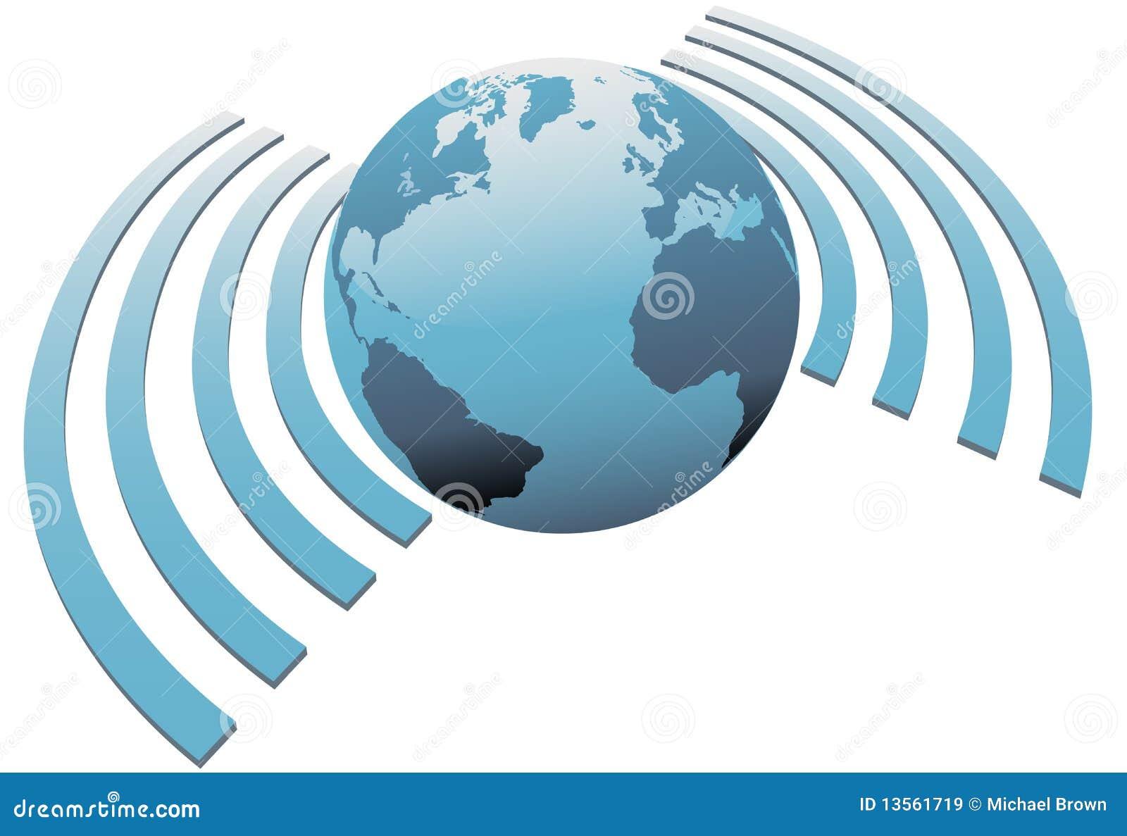 Wireless world wifi Earth broadband symbol