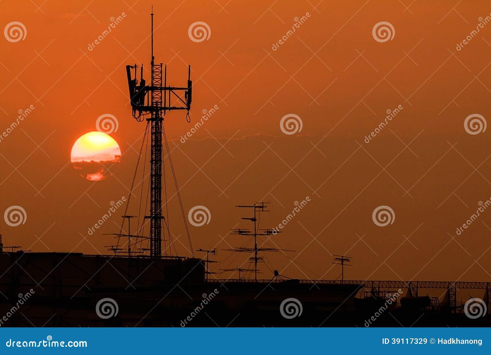 Wirelss broaband antenne op het dak