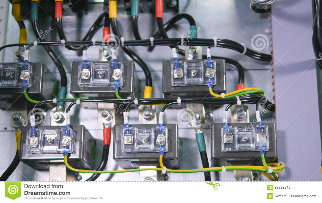 High Voltage Transformer Wiring Reinvent Your Diagram Wires And Cable Of The Electronic System Rh Dreamstime Com Distribution Design