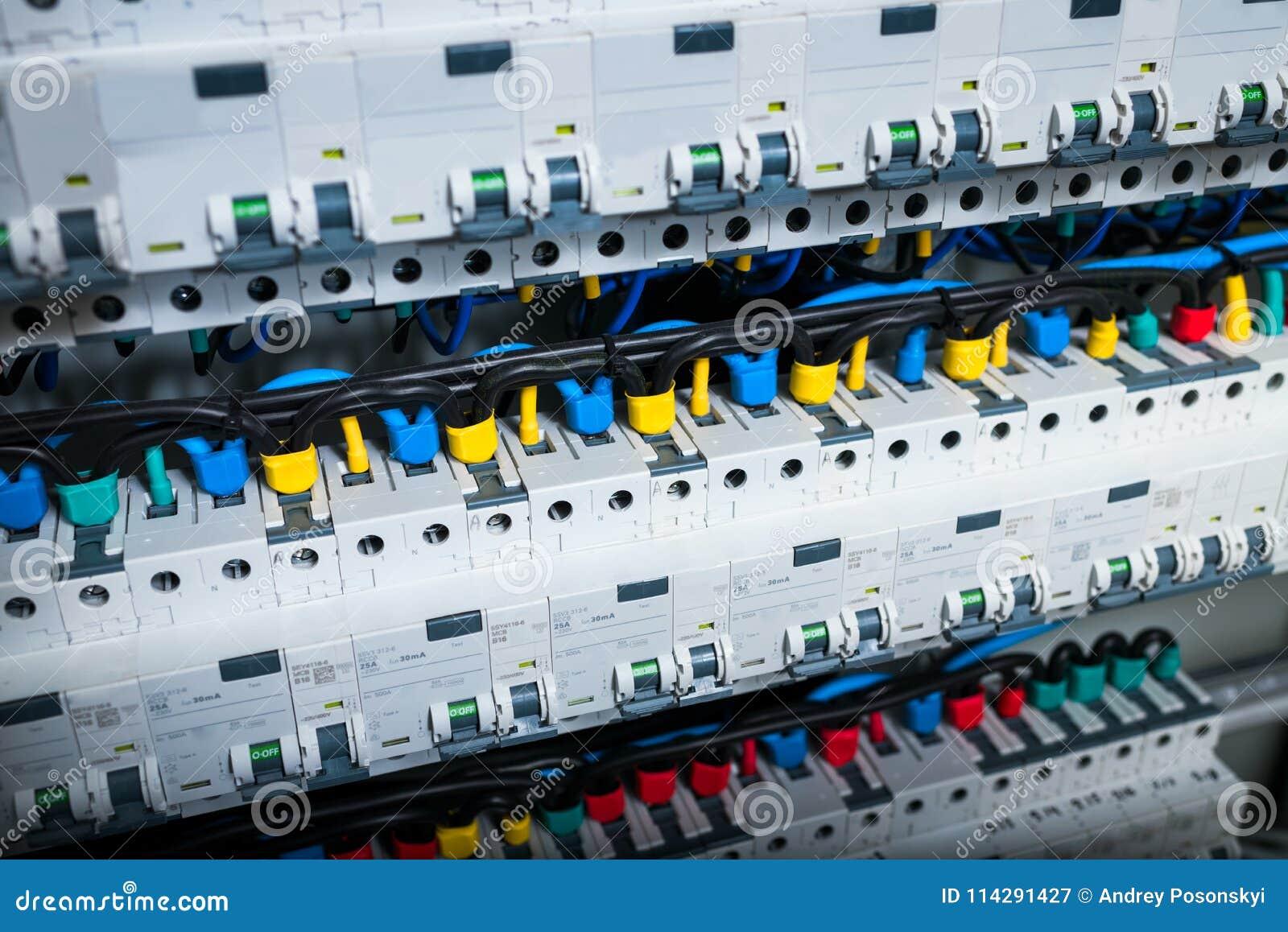 on machine wiring circuit box