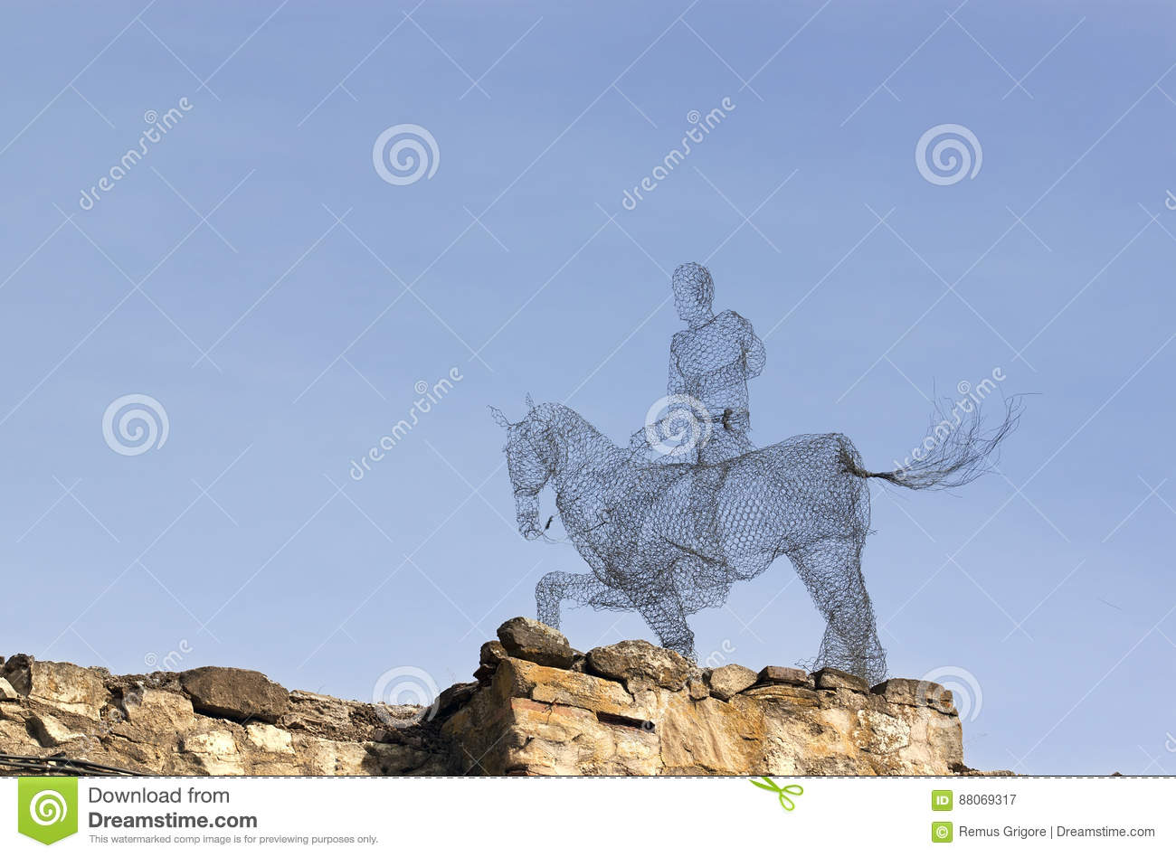 Wires horseman editorial photography. Image of stone - 88069317