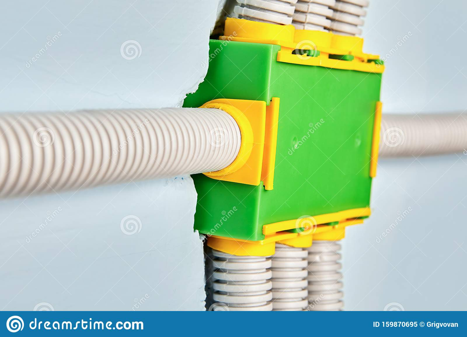 Wiring Box For Electrical House Stock Image Image Of Green Circuit 159870695