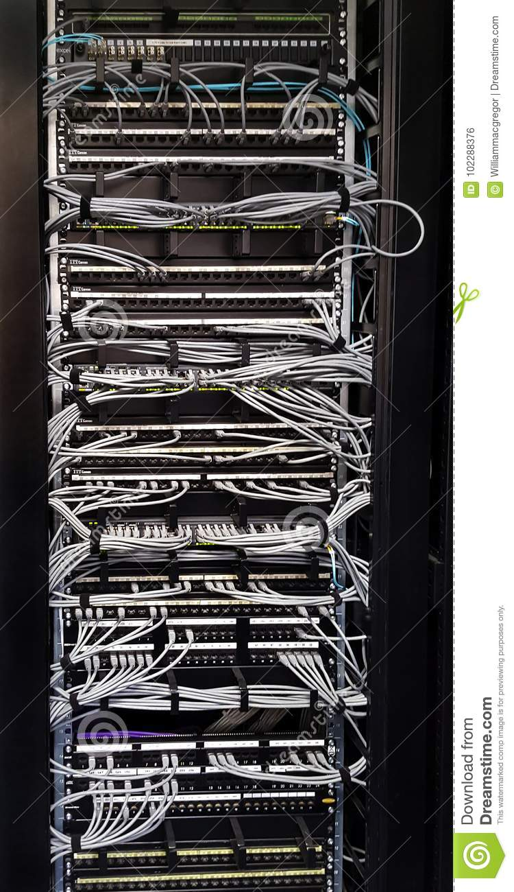 wiring closet stock photo image of connections servers 102288376