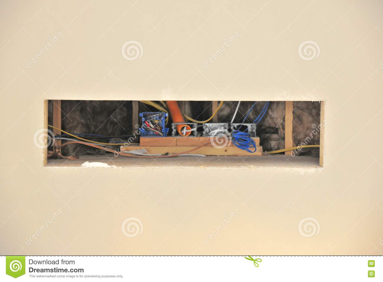 Swell Wiring Cut Out For Television Stock Image Image Of Home Wiring Digital Resources Xeirawoestevosnl