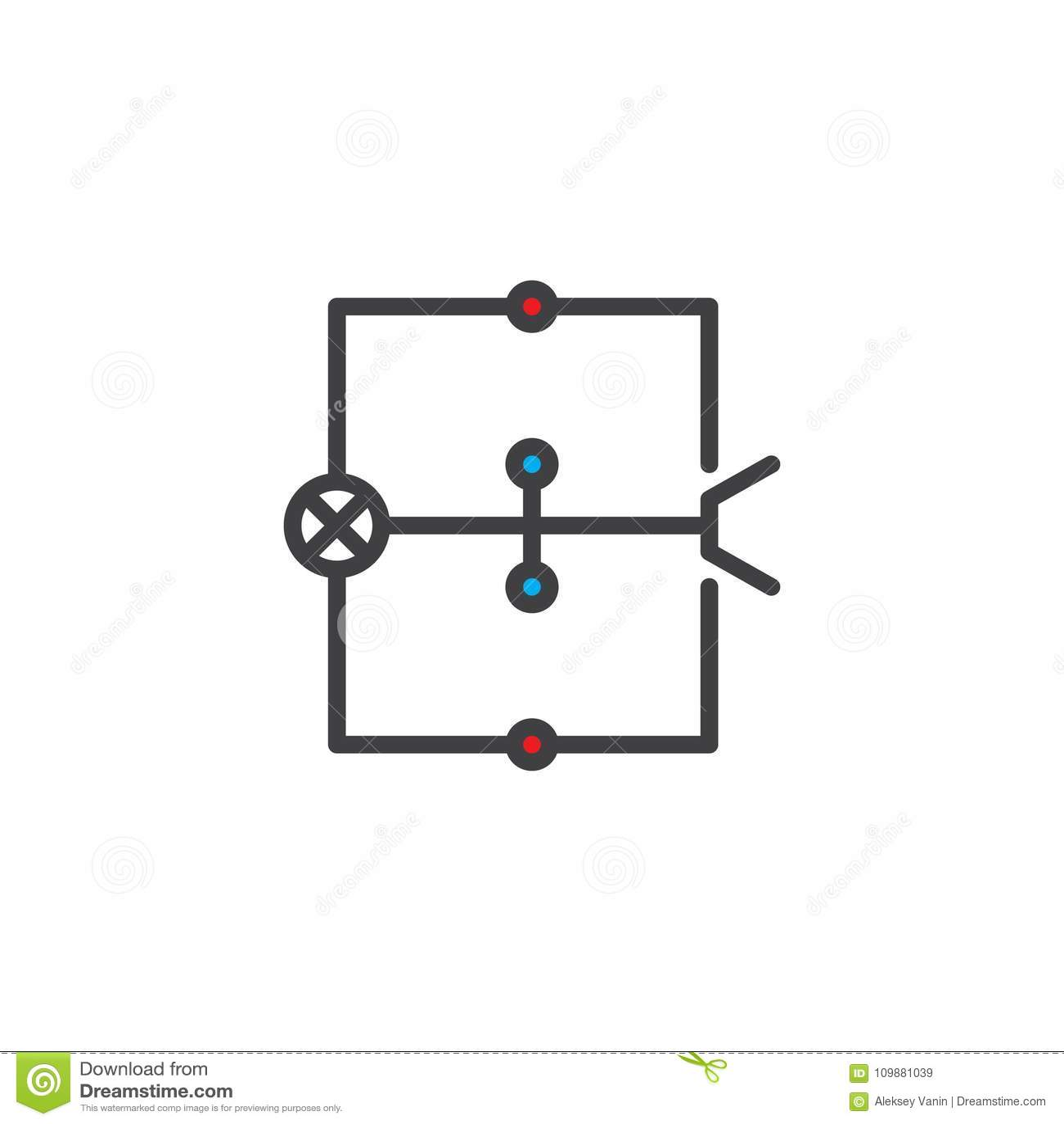 wiring diagram filled outline icon stock vector. Black Bedroom Furniture Sets. Home Design Ideas
