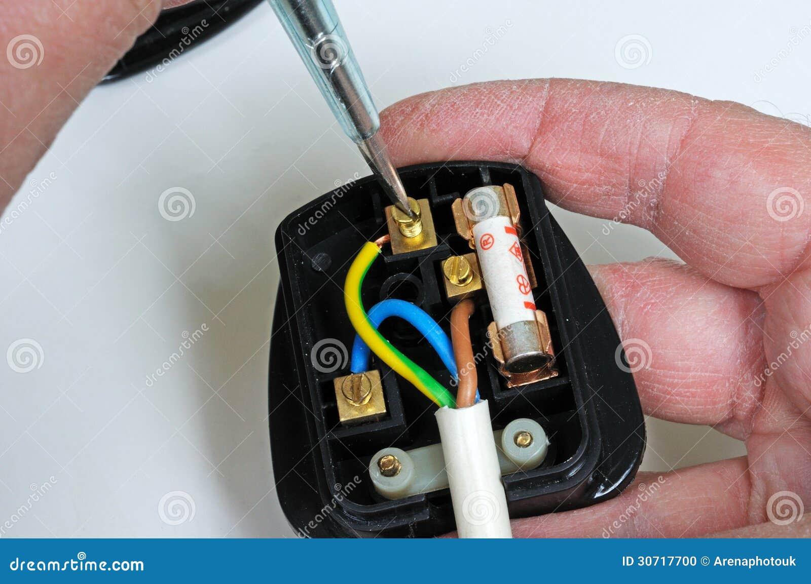 Wiring an English plug.