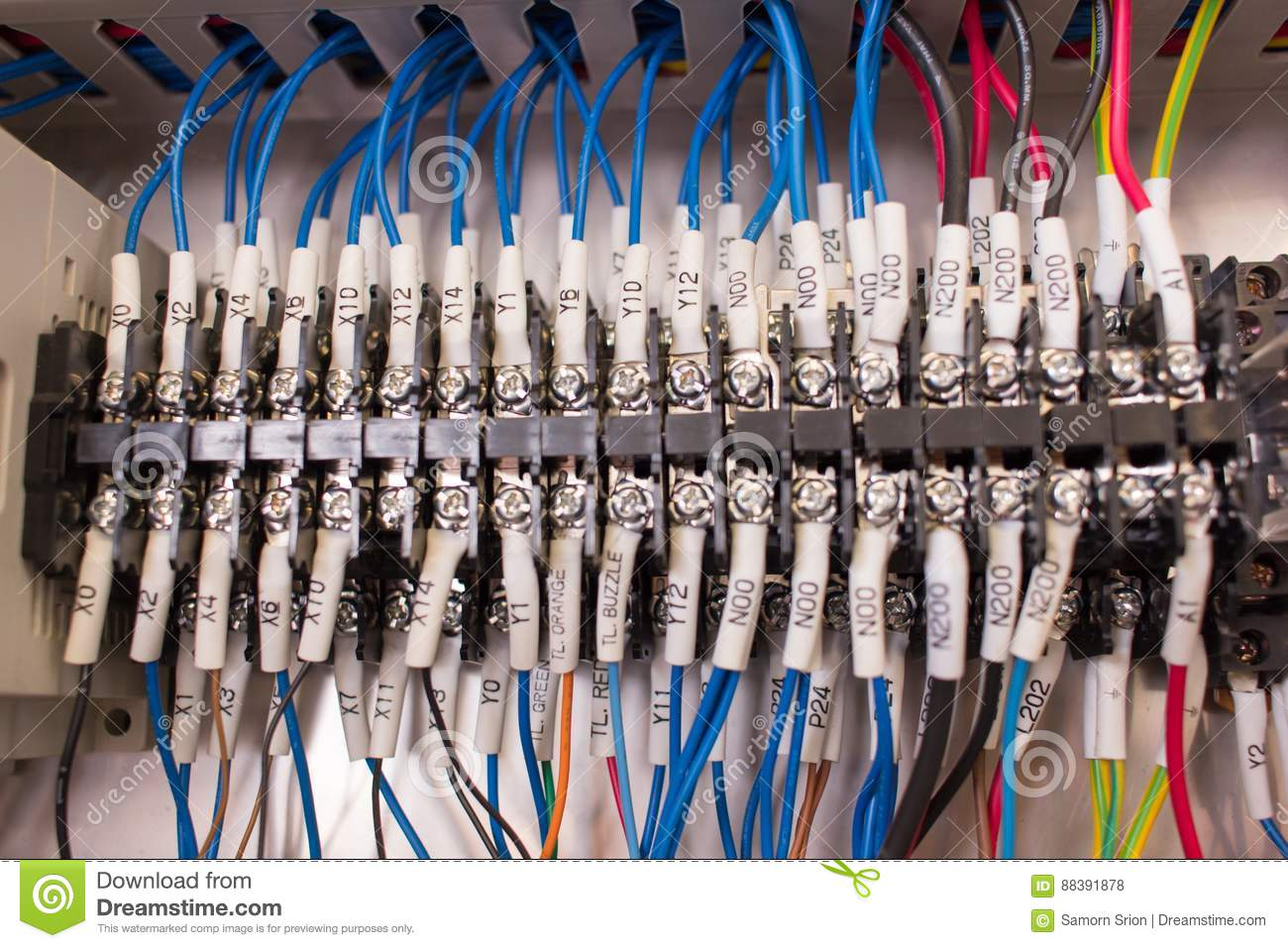Wiring Management In Control Panel Stock Photo Image Of Cabinet Energy 88391878