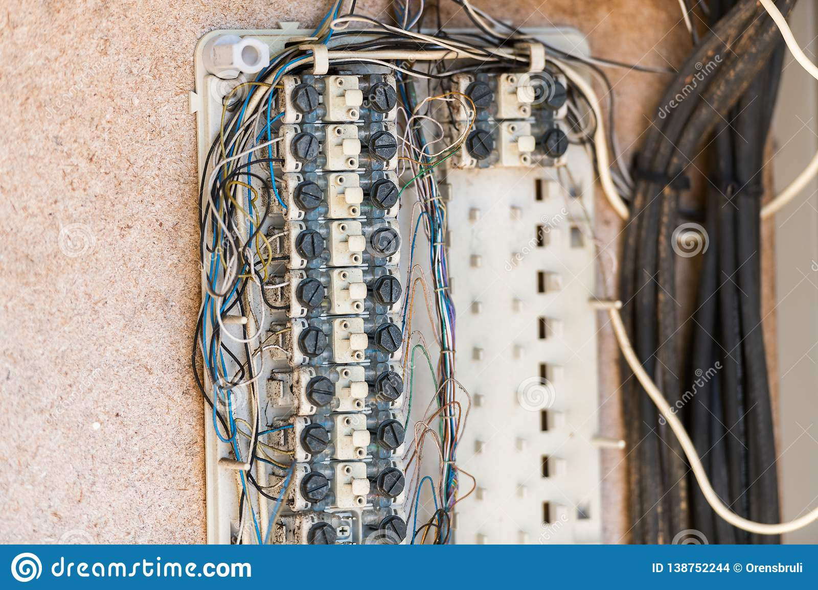 Wiring Of An Old Electrical Installation In Caceres ... on
