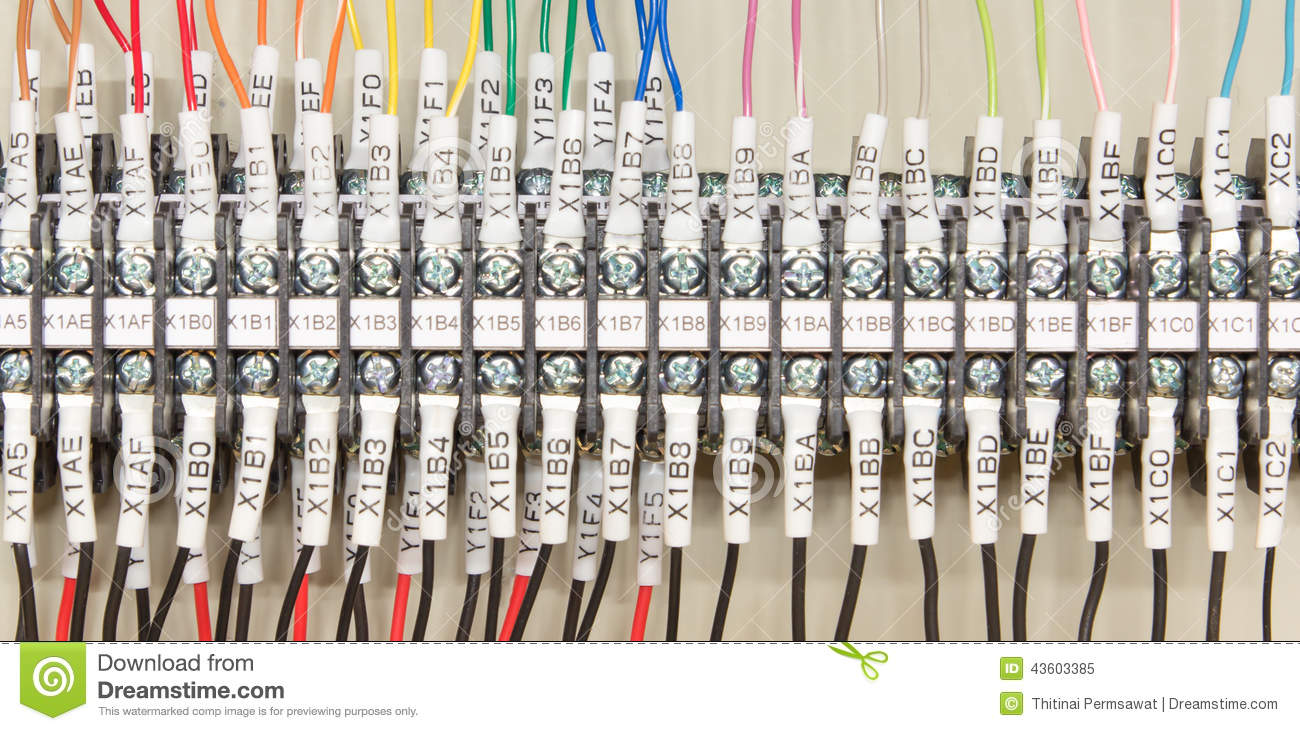 Wiring Plc Stock Photo 43603385 Megapixl Basic Diagram Of A