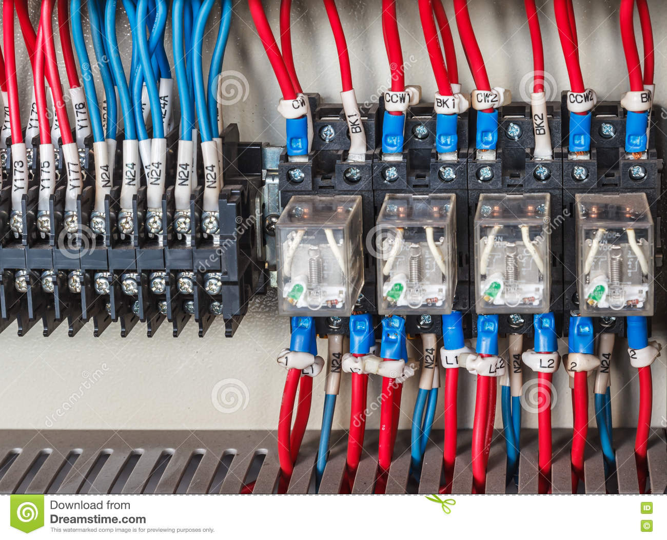 Strange Wiring Plc Stock Photo Image Of Electric Amps Electrician 71996202 Wiring Digital Resources Antuskbiperorg