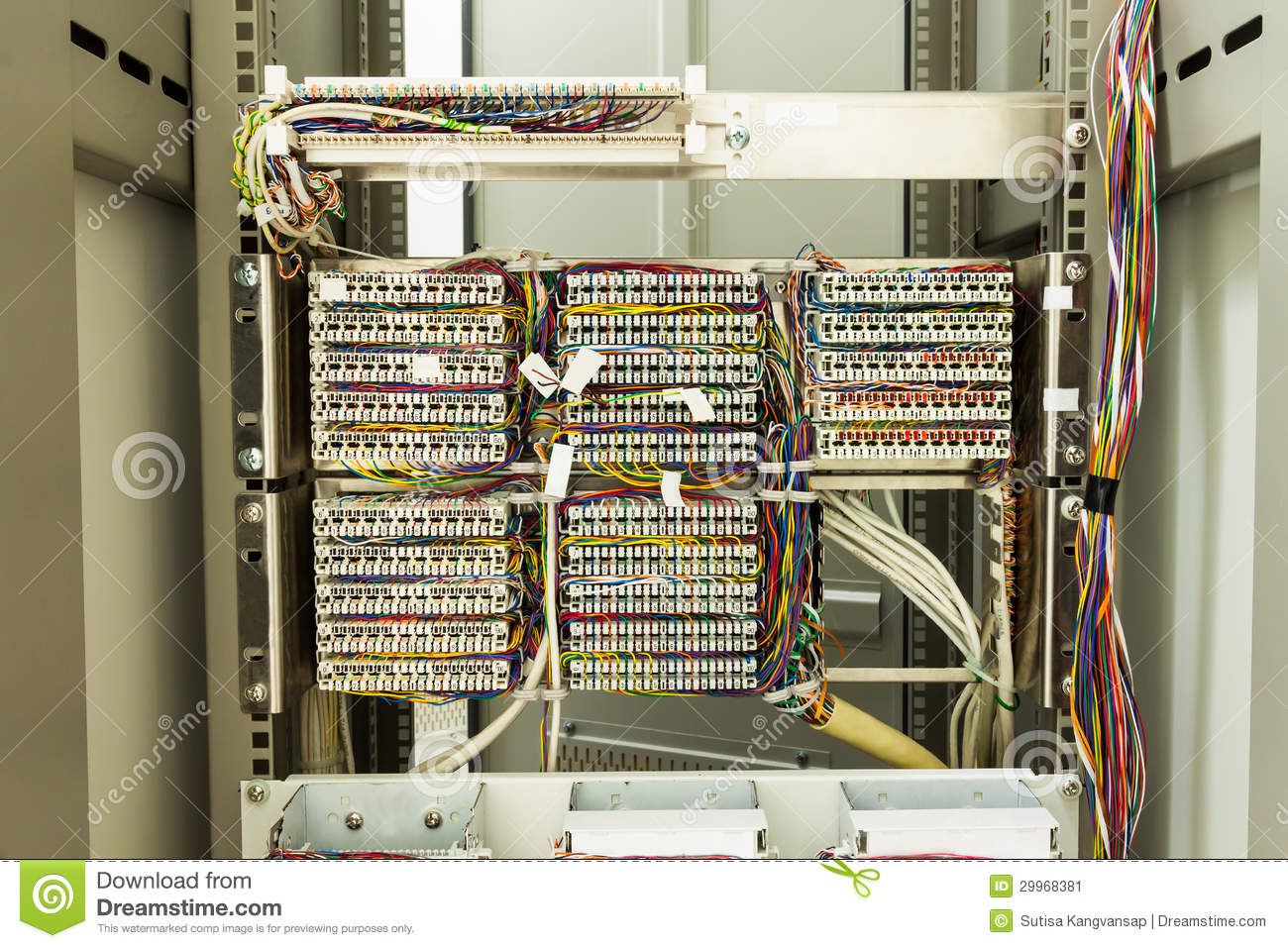 Astounding Rear Of Server Rack Stock Image Image Of Center Commercial 29968381 Wiring Digital Resources Funapmognl