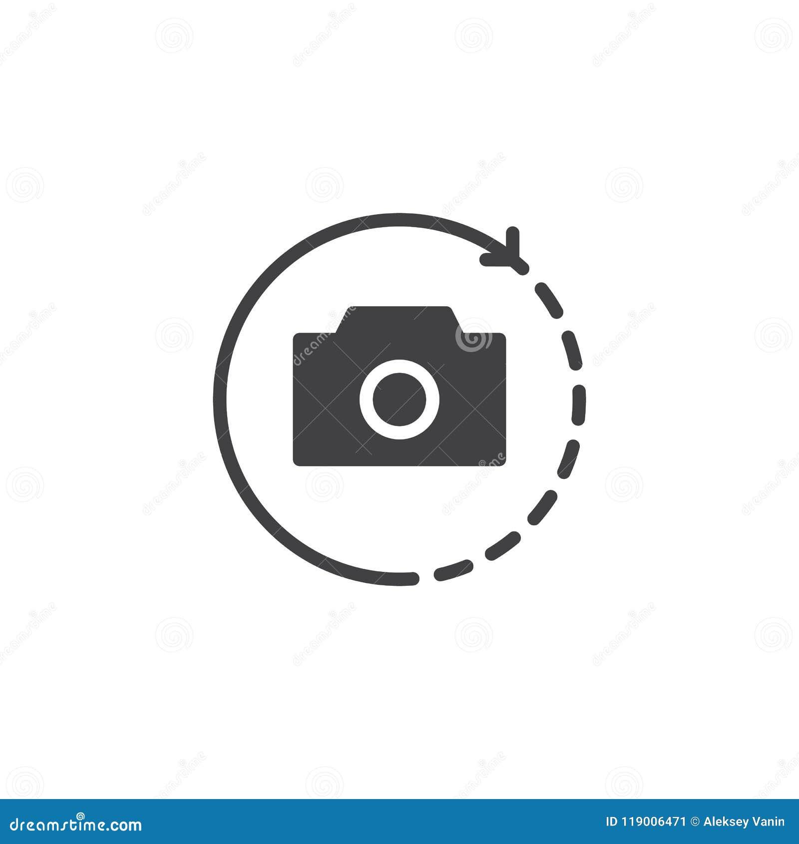 Wiruje kamera wektoru ikonę