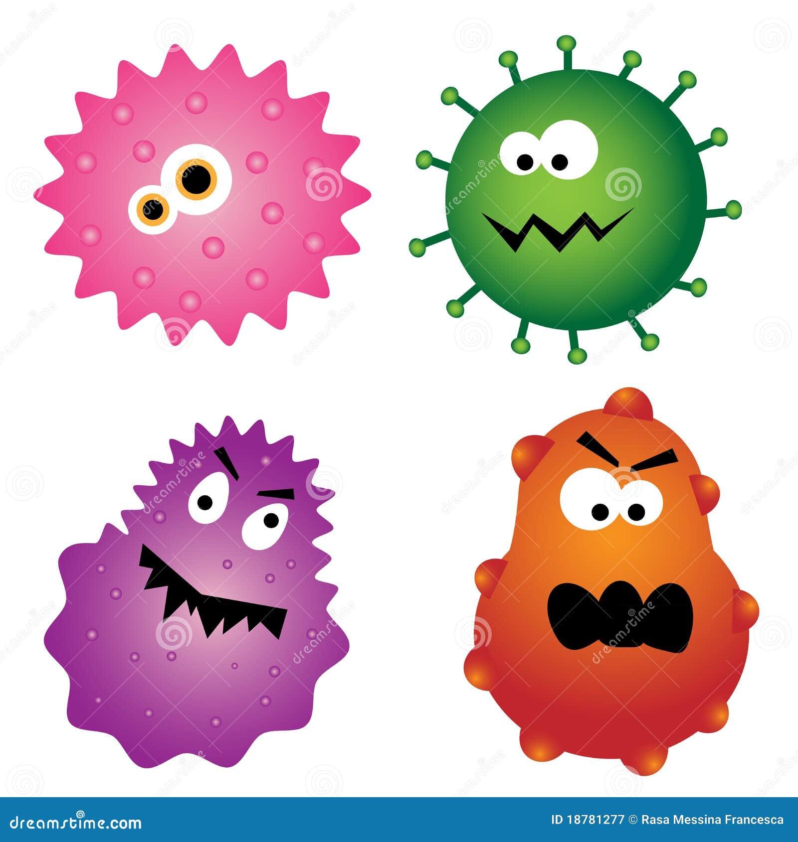 Wirusowi kreskówka zarazki
