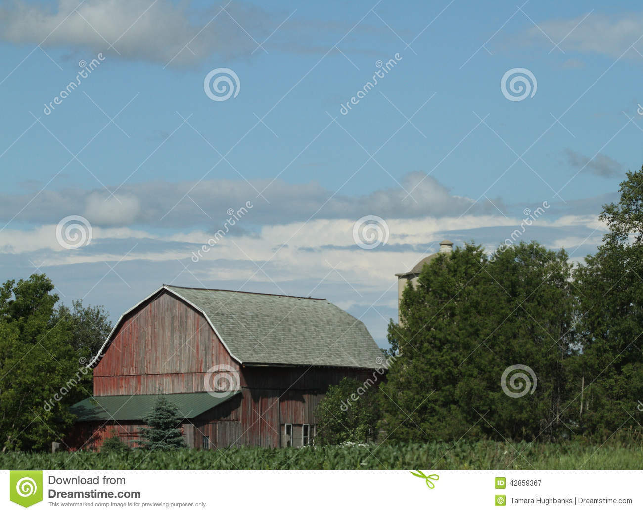 Wisconsin Red Barn Landscape Stock Image Image Of