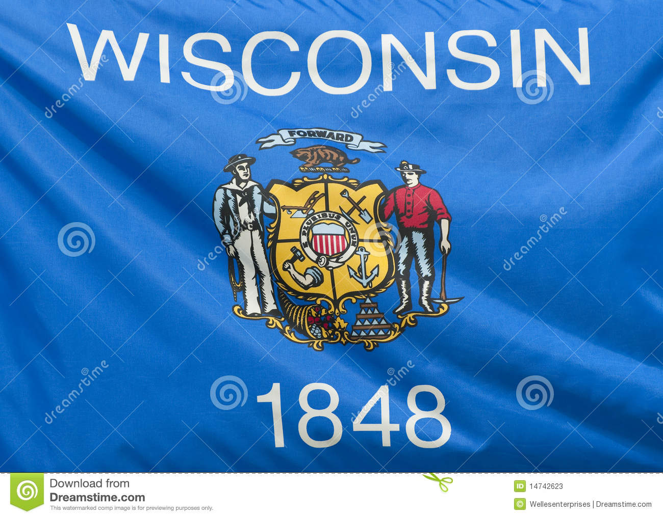Wisconsin State Flag Stock Photos Image 14742623
