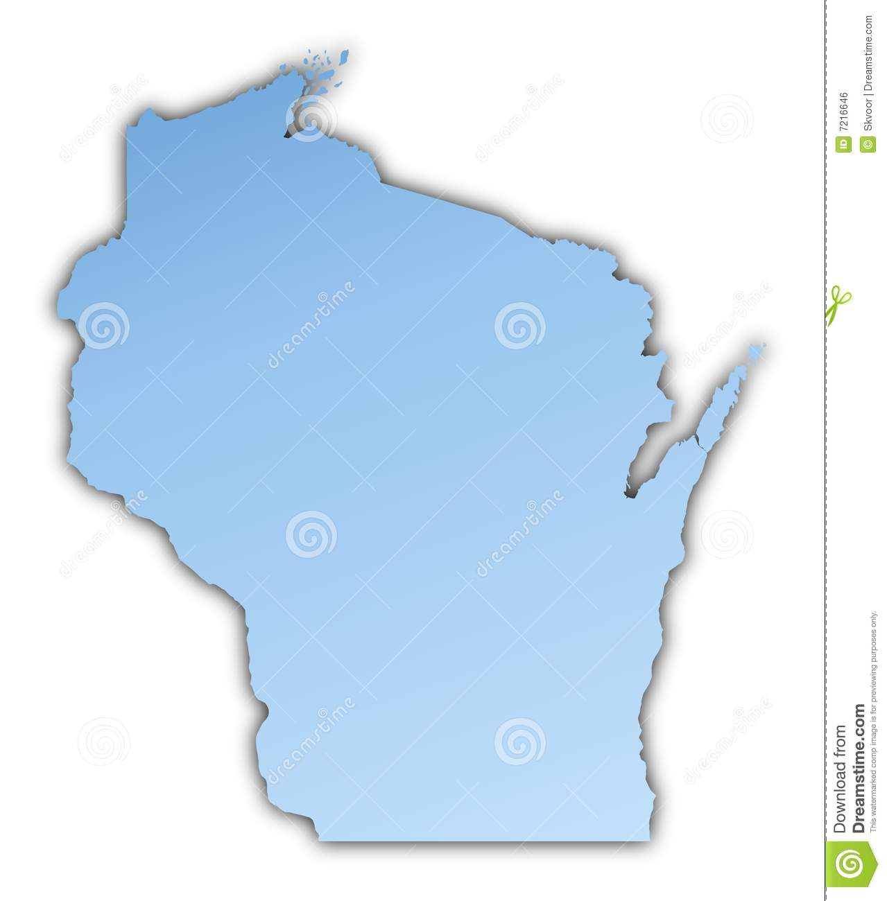 Wisconsin(USA) map stock illustration. Illustration of ...