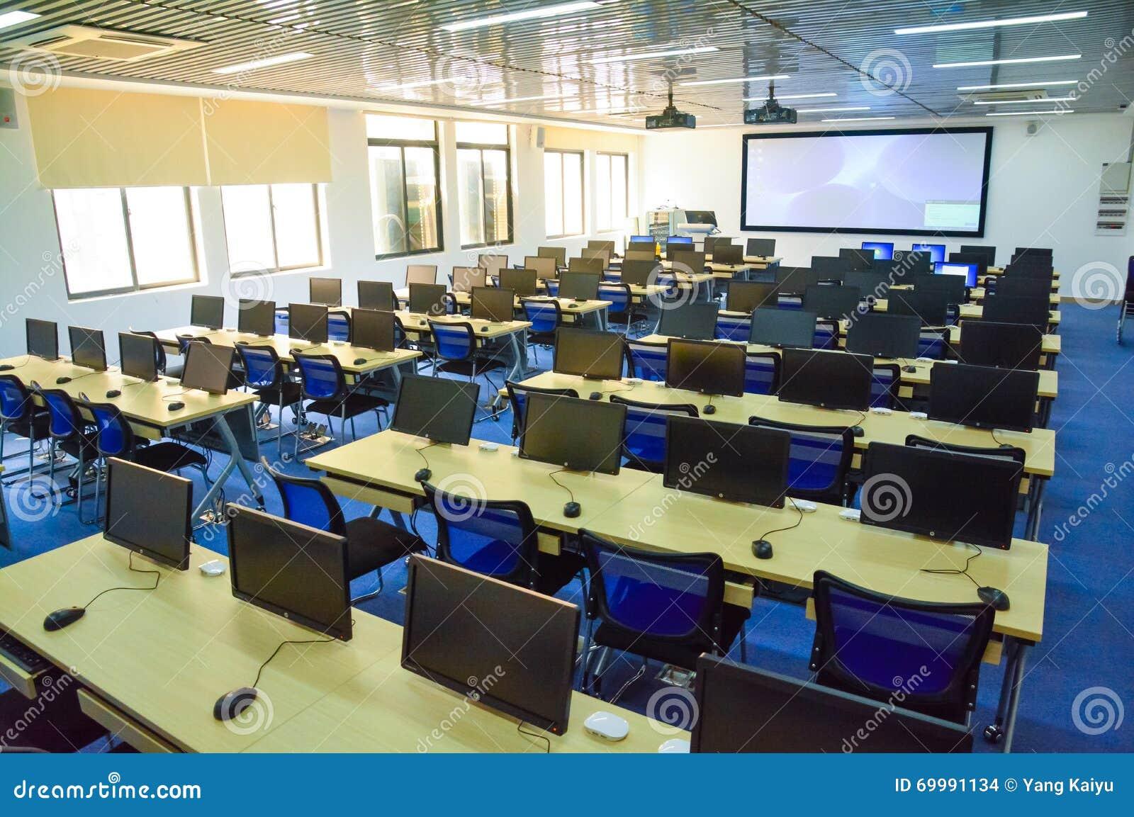 Modern Technology In Classroom Teaching ~ Wisdom digital future classroom editorial stock image