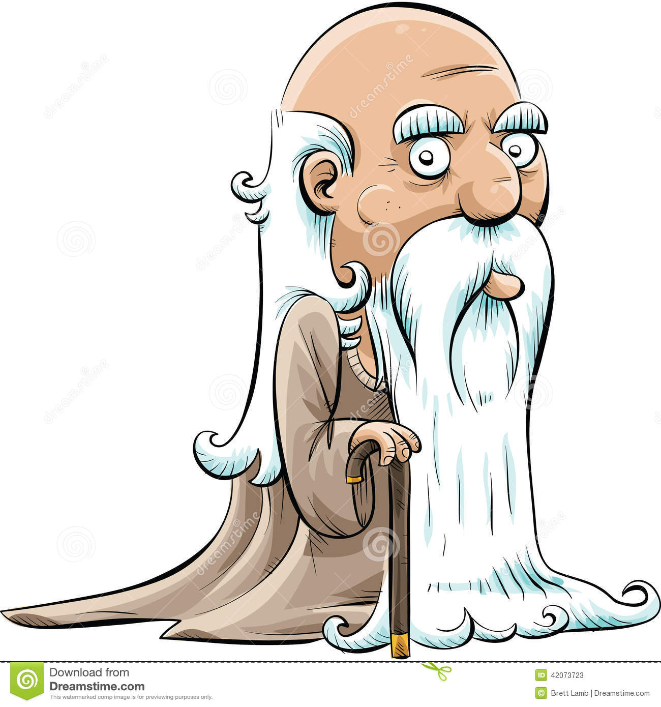 Wise Old Man stock illustration. Image of warlock, merlin ...