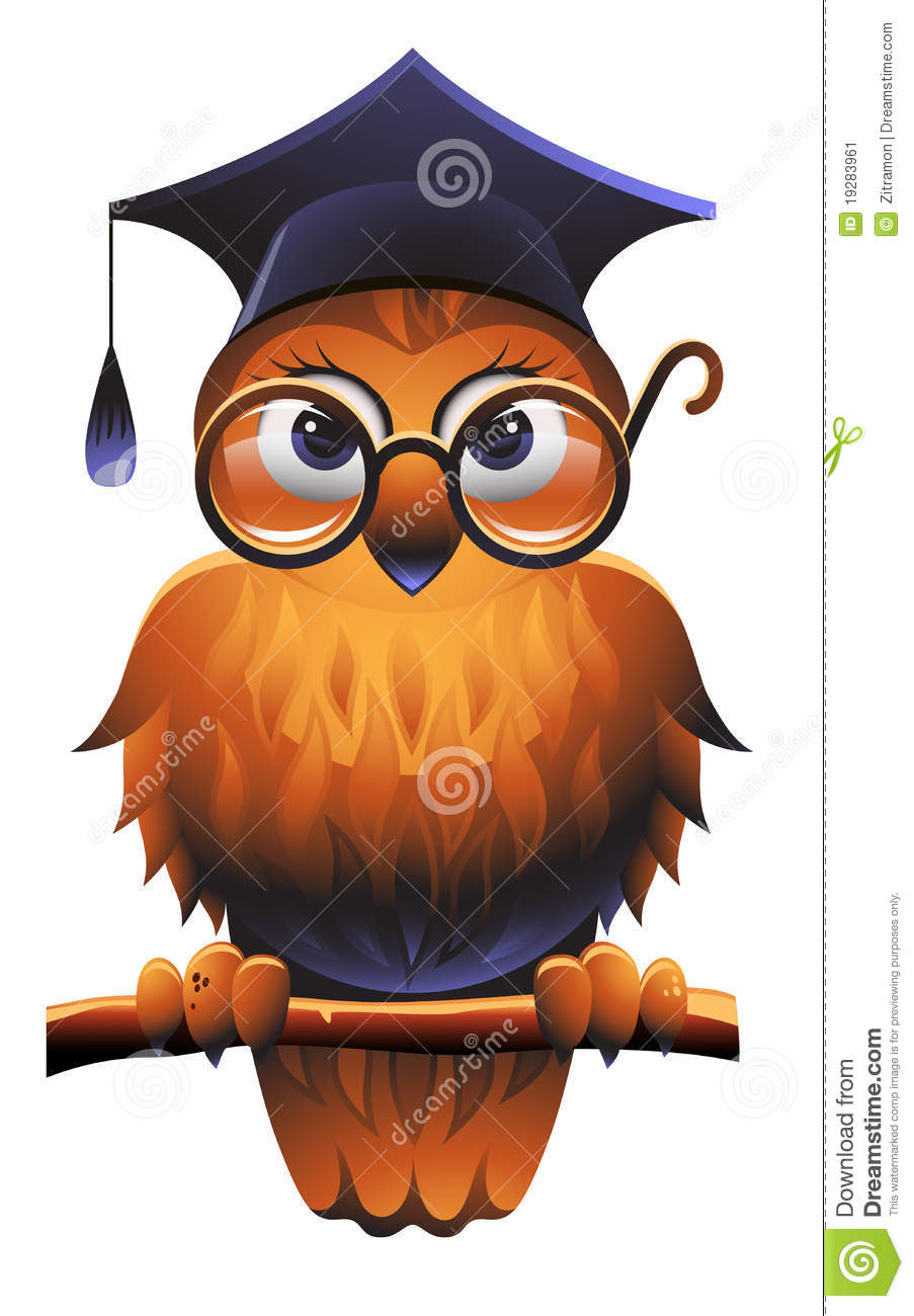 Royalty Free Stock Photo Download Wise Owl Vector Illustration Of Learning Academic