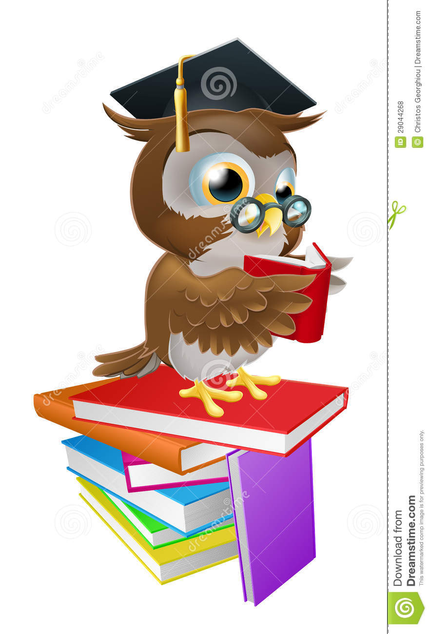 wise owl reading stock vector image of glasses  looking Owl with Book Clip Art Owl with Book Clip Art