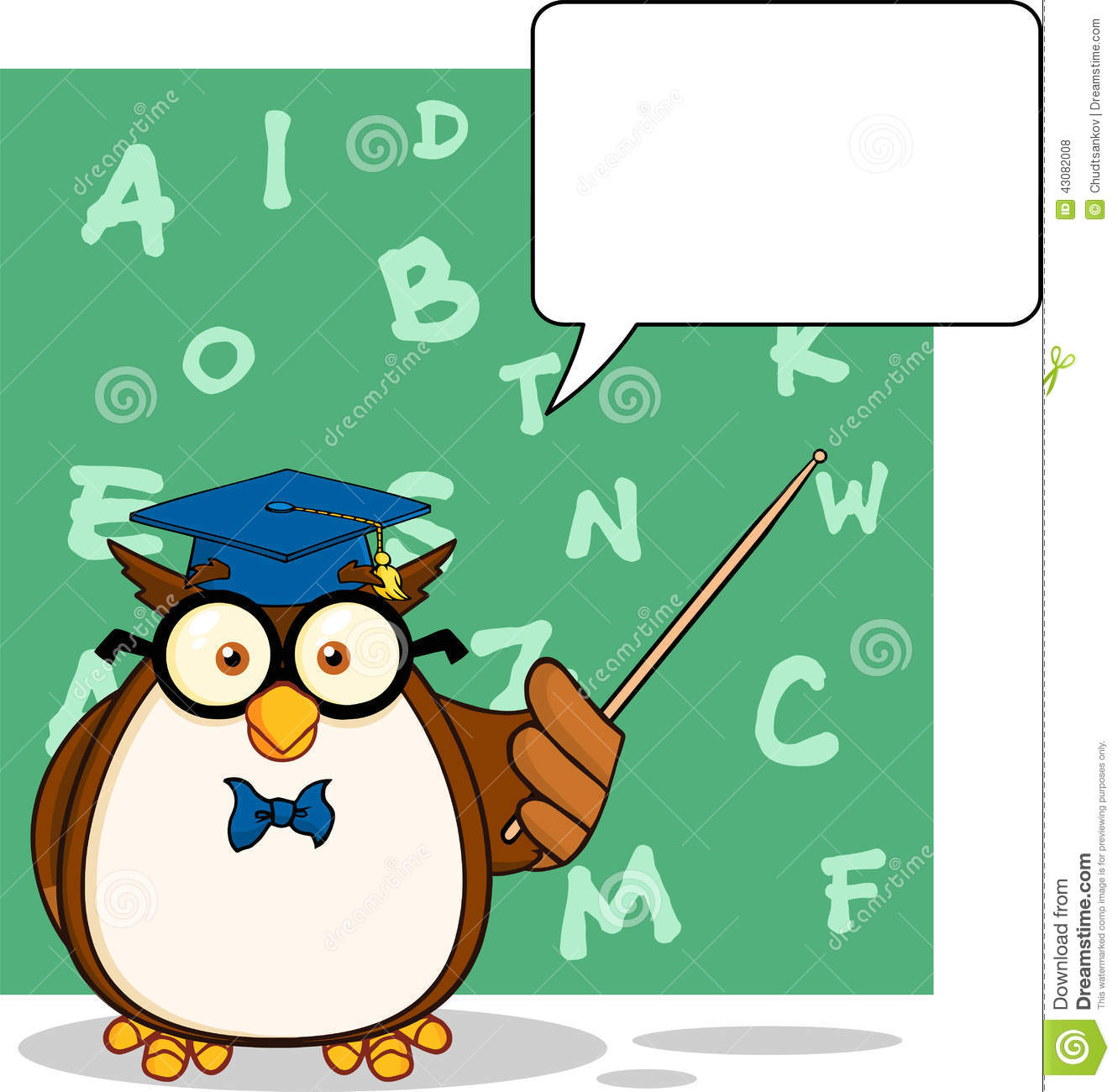 Stock Illustration  Wise Owl Teacher Cartoon Character With A Speech    Owl Teacher Cartoon
