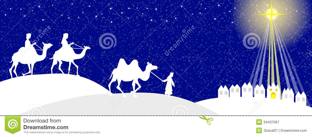 Wisemen Silhouette Royalty Free Stock Photography - Image: 34437067