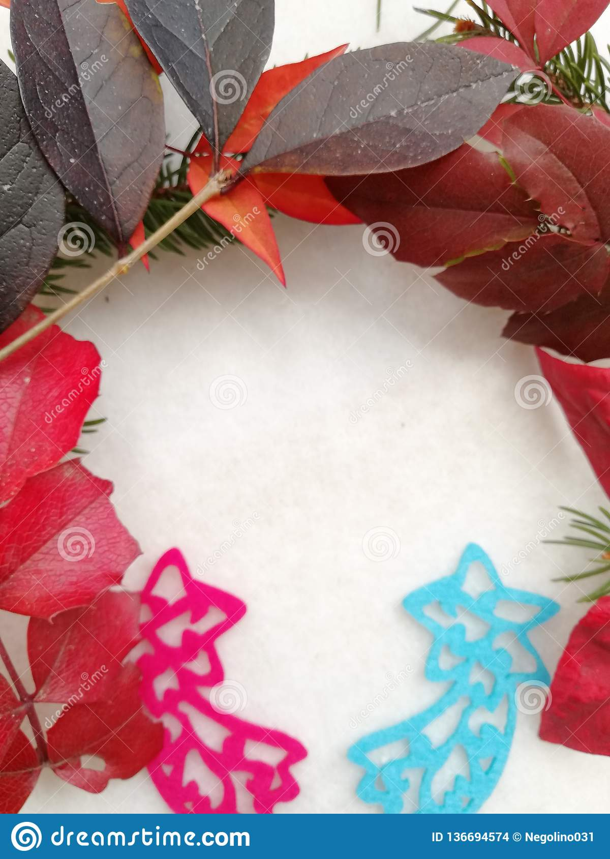 Auguri Di Buon Natale We Wish You A Merry Christmas.Elegant Greeting Card For Winter Holiday Stock Photo Image