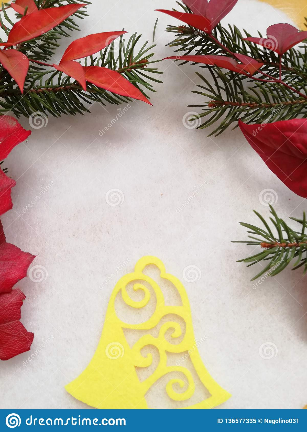 Auguri Di Buon Natale We Wish You A Merry Christmas.Elegant Greeting Card For Winter Holiday Stock Image Image